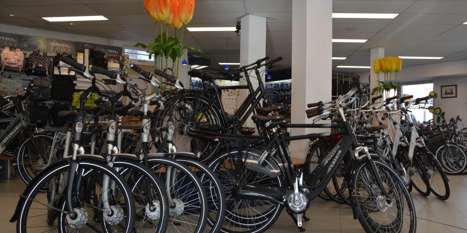 fietsen in winkel
